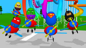 3d superheroes surprise eggs cartoon for kids toys surprise eggs