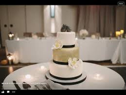 3 tiered fondant wedding cake for the daughter of a good friend
