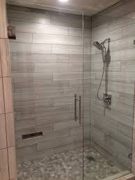 Bathroom Shower Wall Tiles by Sleek Shower Using Eramosa Ice 6x36 And Wf Niagara Porcelains