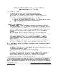grant report template template of progress report format free