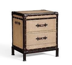 pottery barn bedside table redford vintage trunk bedside table burlap bedrooms master