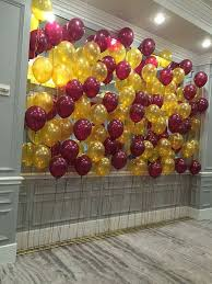 nice balloon backdrop in burgundy and gold balloon backdrops