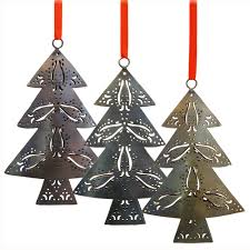 recycled metal trees from india fair trade handmade