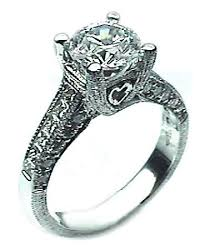 vintage antique engagement rings antique engagement ring in platinum 1 25ct