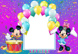 mickey mouse birthday happy birthday mickey mouse transparent kids frame gallery