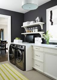 White Laundry Room Wall Cabinets Laundry Shelves Contemporary Laundry Room House Home