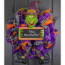 Halloween Wreath Witch Legs Tin Halloween Witch Wreath Accent 9728148 Craftoutlet Com