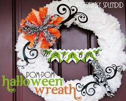 How To Make Halloween Wreaths by Tissue Paper Pom Pom Halloween Wreath Tutorial Positively