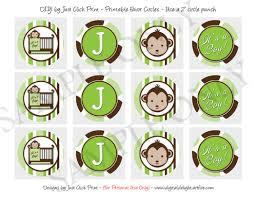 mod baby shower mod monkey green brown baby shower photo invitation printable