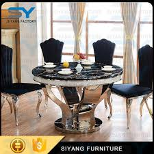 round marble dining table and chairs modern round marble dining table set baroque dragon mart dubai