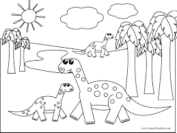 simple dinosaur coloring page getcoloringpages com