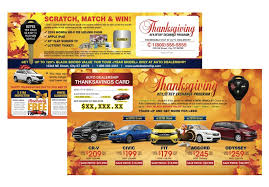 laminated automotive buyback card mailer