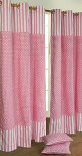 White With Pink Polka Dot Curtains White Or Pink Polka Dot Curtain Panel Made To By Hookoncurtains