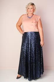 maxi skirt plus size sequin maxi skirt blue society plus