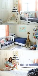 shared boys geometrical bedroom combination of ikea and kmart