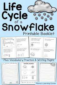 free printable life cycle of a snowflake booklet and worksheets