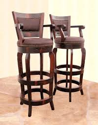 bar stools wood and leather leather bar stools with arms black metal swivel bar stool with back
