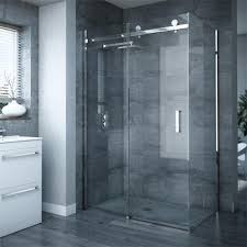 1200mm Shower Door Frameless Sliding Door Panel Enclosure At Plumbing Uk