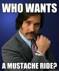 Mustache Ride Meme - who wants a mustache ride brian fantana quickmeme