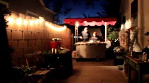 taco cart catering for a backyard wedding reception in santa ana