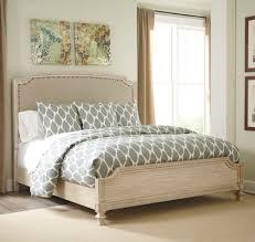 White Ash Bedroom Furniture Ashley Furniture Demarlos Queen Upholstered Panel Bed Best