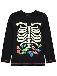 Glow In The Dark Skeleton Costume Halloween Glow In The Dark Skeleton Top Kids George