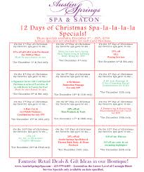 happy spa lidays we hope you enjoy our december specials spa