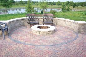 patio ideas diy paver patio with fire pit diy stacked stone