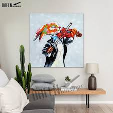 100 hand made crazy rabbit oil painting modern animal square wall