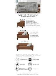How To Measure A Sofa For A Slipcover by Amazon Com Brenna Collection Basic Strapless Slipcover Form Fit