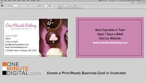 card double sided business card template illustrator