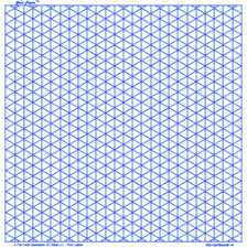 printable isometric paper a4 grid graph paper 1 inch blue square land a4