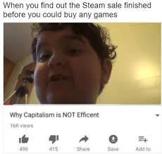 Finished Meme - when you find out the steam sale finished before you could buy any