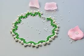 collar necklace beads images How to make a collar necklace with 2 hole seed beads and white jpg