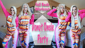 donut onesies my spray tan u0026 workout with buffbunny youtube