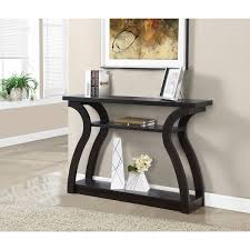 Hallway Accent Table 47 Inch Cappuccino Console Accent Table Free Shipping Today