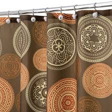 Orange Shower Curtains Brown And Burnt Orange Shower Curtain Shower Curtains Ideas