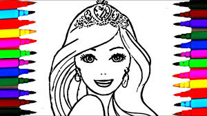 barbie elsa anna princess mermaid coloring pages draw