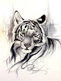 ink wash tiger by lucky978 on deviantart