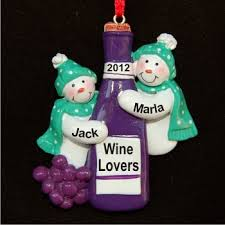 red wine for friends christmas ornament ornament and christmas