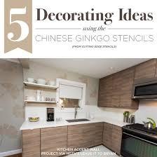 kitchen stencil ideas 5 decorating ideas the ginkgo stencils stencil stories