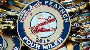 flying feather four miler thanksgiving run dublin ohio m3s