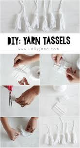 kool aid dip dye tassel wall hanging