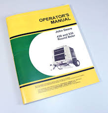 john deere 430 530 round baler owners operators manual maintenance