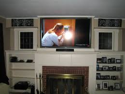 wall mount tv over fireplace projects idea wall mount tv over