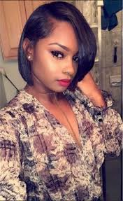 short pressed hairstyles bob haircuts for african american women black beauty pinterest