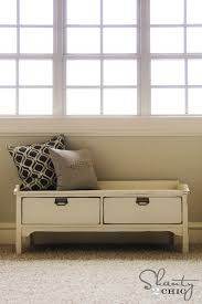 Bedroom Bench With Drawers Drawers Terrific Storage Bench With Drawers For Home Storage
