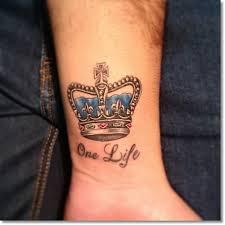 princess crown tattoos on wrist