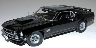 1969 Mustang Black Danbury Mint 1969 Mustang Boss 429 Black 1 24 Model