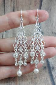 bridal chandelier earrings chandelier earrings to match wedding dresses amanda